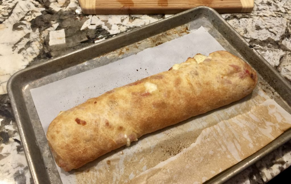 Hawaiian Stromboli with Leftover Ham