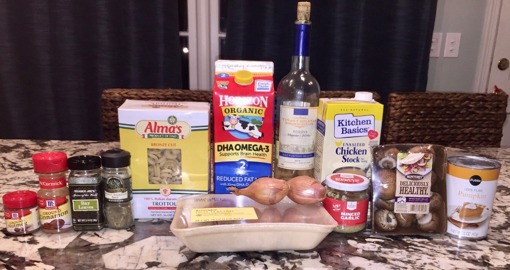 pumpkin pasta ingredients