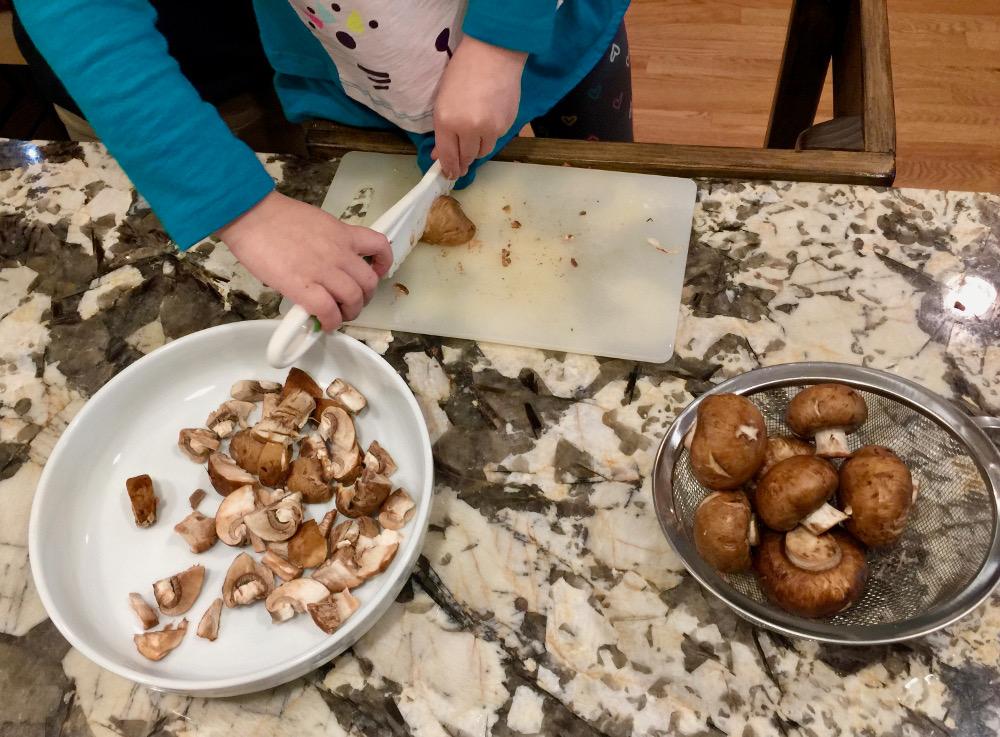mushrooms for pumpkin pasta