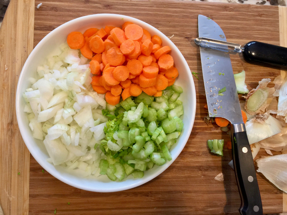 vegetables for chicken and dumplings